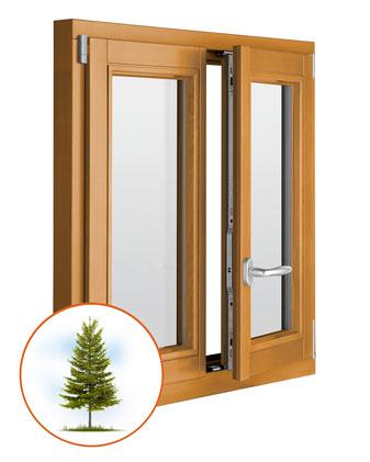Деревянные стеклопакеты фото