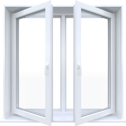 Окно двустворчатое