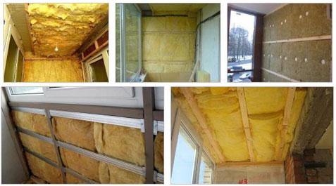 Утепление балконов и лоджий минеральной ватой