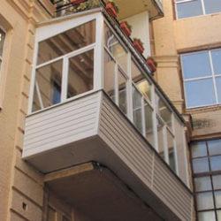 Вынос балкона по плите и по полу
