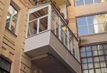 Вынос балкона по плите и полу