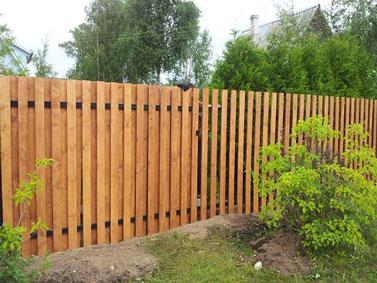 Комбинированный деревянных забор